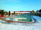 Słowackie kąpielisko termalne podczas zimy