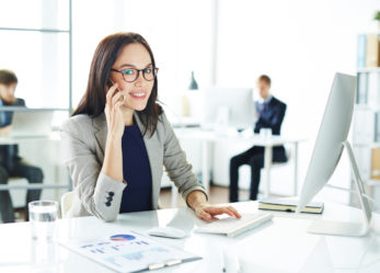 Telefon dla kobiety biznesu